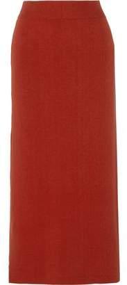A.L.C. Emmanuelle Stretch Ribbed-Knit Cotton-Blend Midi Skirt