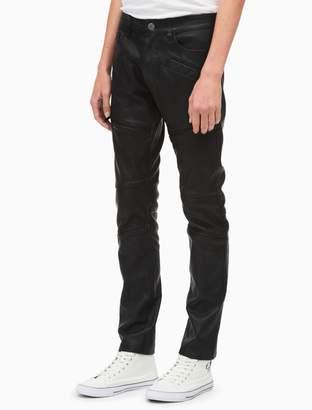 Calvin Klein leather biker pants