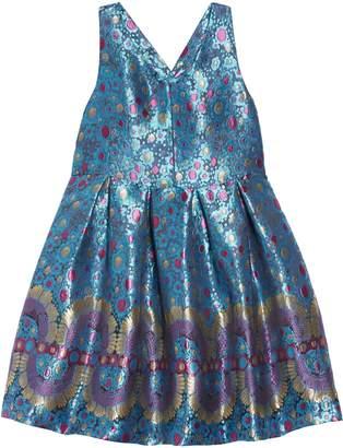 Pippa Pastourelle by & Julie Border Jacquard Fit & Flare Dress