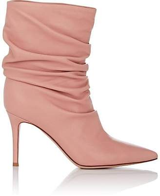 Gianvito Rossi Women's Cecile Leather Ankle Boots - Pink