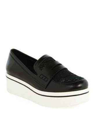 Stella McCartney Binx Lace Sneaker-Style Penny Loafer