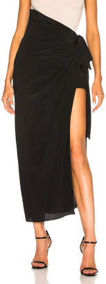 Saint Laurent Crepe de Chine Maxi Skirt