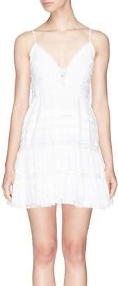 Zimmermann 'Iris' lace panel camisole dress