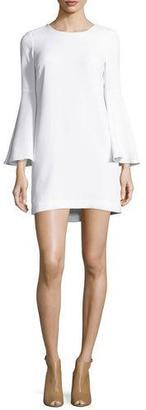 Elizabeth and James Aurora Bell-Sleeve Mini Dress, White $375 thestylecure.com