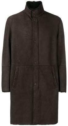 Emporio Armani shearling-lined coat