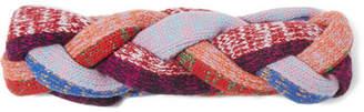 Gucci Metallic Braided Wool-blend Headband - Pink