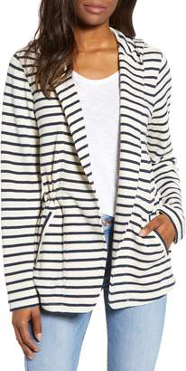 Caslon Open Front Hooded Cardigan
