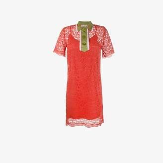 Jour/Né Jour/Ne collared lace mini dress