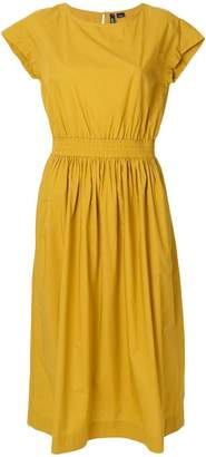 Woolrich belted flared midi dress