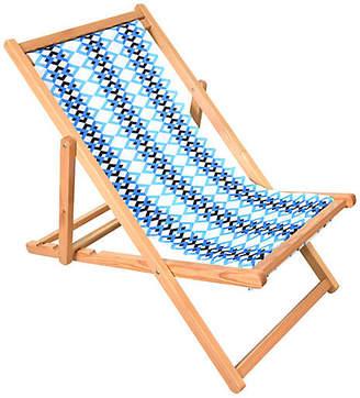 Chevron Beach Chair - Blue/White - ASTELLA