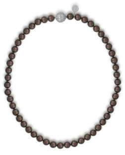 Majorica 8MM Tahitian Pearl & Crystal Strand Necklace