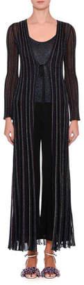 Missoni Long Metallic Tie-Front Cardigan