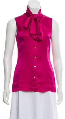 Chanel Silk Blouse Pink Silk Blouse