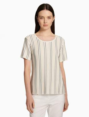 Calvin Klein striped crewneck short sleeve top