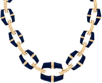 "C. Wonder 16-3/4"" Bold Graduated Enamel Bamboo Link Necklace"