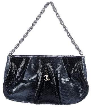 Chanel Pleated Python Chain Bag