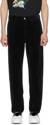 McQ Black Velvet Twisted Trousers