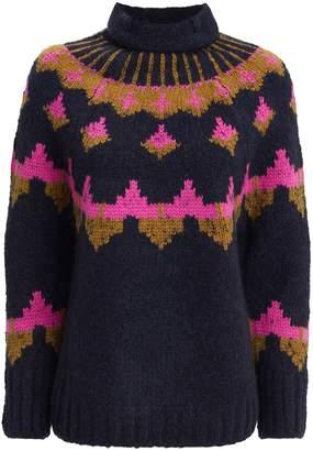A.L.C. Fairisle Navy Sweater