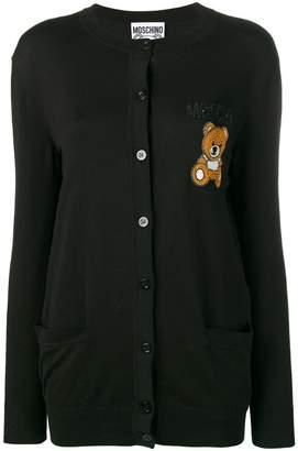 Moschino teddy applique cardigan