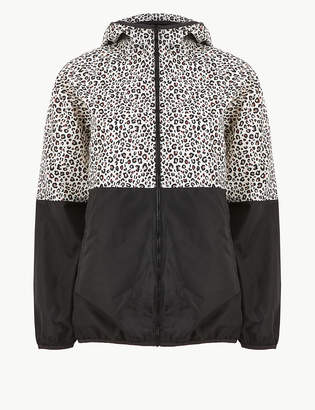 Marks and Spencer Animal Block Print Short Pack Away Parka