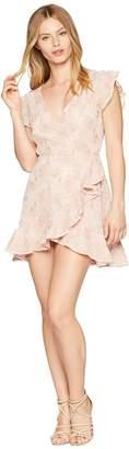 BB Dakota RSVP Karlie Lace Ruffle Faux Wrap Dress Women's Dress