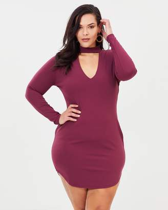 Curved Hem Mini Dress