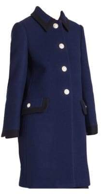 Miu Miu Long-Sleeve Car Coat