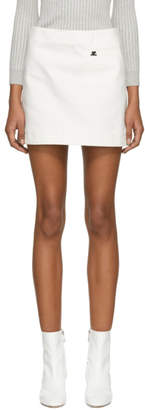 Courreges White Denim Pocket Miniskirt