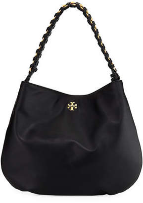 Tory Burch Brooke Whipstitch Chain Leather Hobo Bag