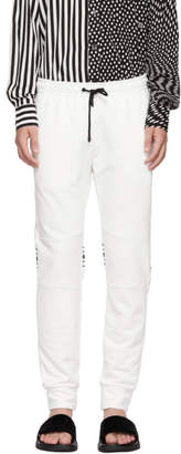 Fendi White Cuff Jogger Forever Lounge Pants
