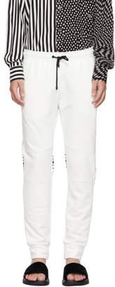 Fendi White Cuff Jogger Forever Lounge Pants