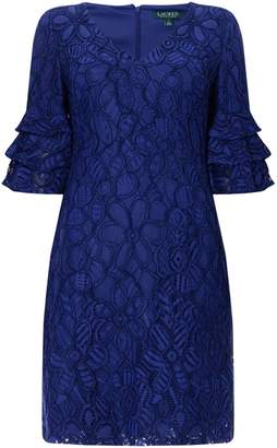 Lauren Ralph Lauren Lace frill sleeve dress