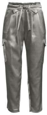 Ramy Brook Allyn Satin Cargo Pants