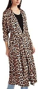Icons Women's The Draper Leopard-Print Satin Robe Jacket