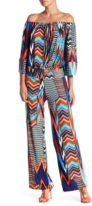 Julian Chang Graciella Print Jersey Jumpsuit $154 thestylecure.com