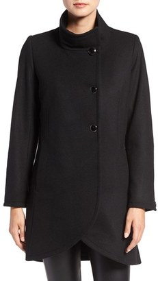 Women's Cece 'Gianna' Double Breasted Wool Blend Tulip Hem Coat $178 thestylecure.com