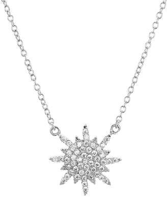 Aqua Sterling Silver Star Pendant Necklace 16 - 100% Exclusive