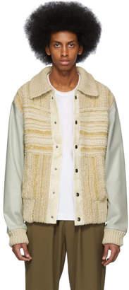 Acne Studios Beige Knit Komber Jacket