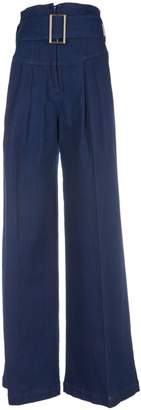 Semi-Couture Semicouture Erika Cavallini Belted Flared Trousers