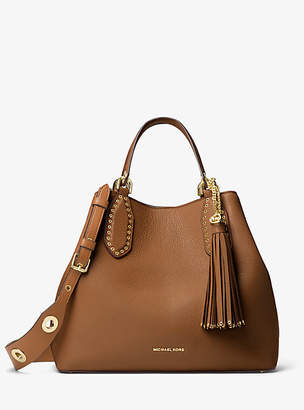 Michael Kors Brooklyn Large Leather Satchel