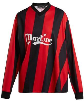 Martine Rose Long Sleeved Twisted Football Shirt - Womens - Red Stripe
