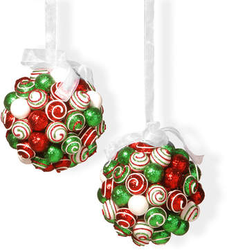 Co NATIONAL TREE 6 Ornament Hanging Balls Set