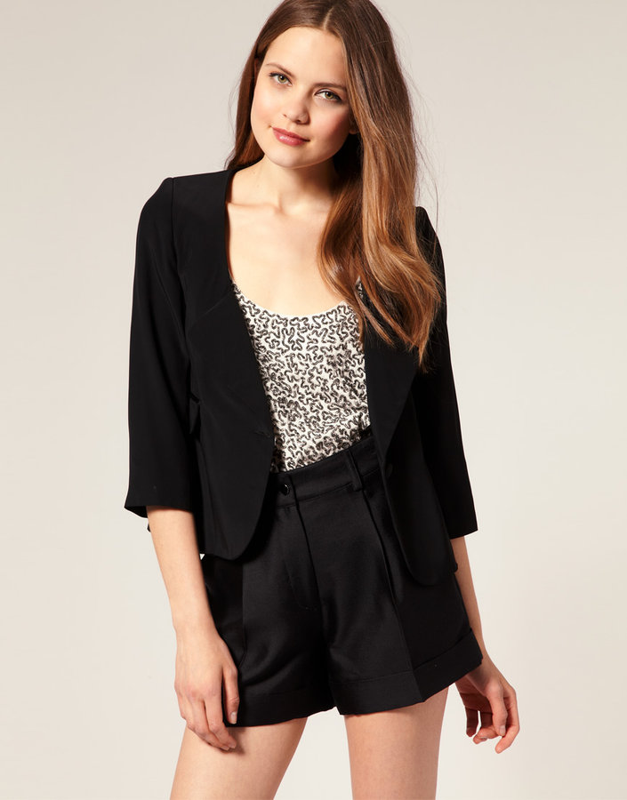 Warehouse Luxe Cropped Blazer