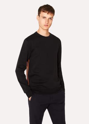 Paul Smith Men's Black 'Artist Stripe' Tape Seam Sweatshirt