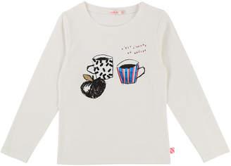 Billieblush Long-Sleeve Cup-Print Tee, Size 4-8