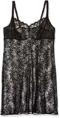 Aubade Women's À L'Amour Nightie, Black Noir, (Size: 6)