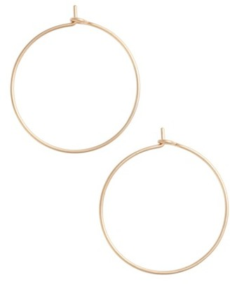Women's Nashelle Medium Pure Hoop Earrings $45 thestylecure.com