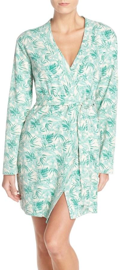 UGGUGG Australia Clio Island Floral Print Waffle Knit Robe
