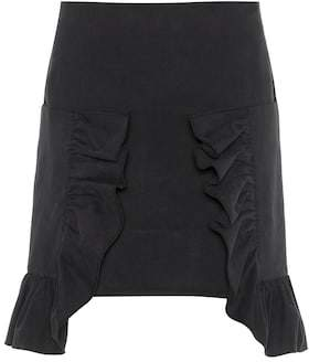 Marni Ruffled cotton twill miniskirt
