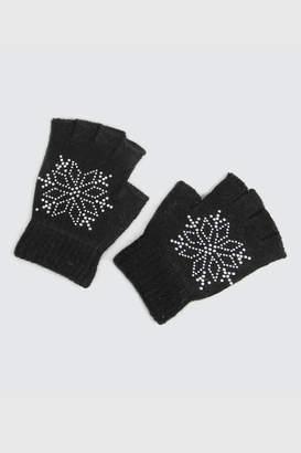 Victoria Leland Designs Fingerless Black Gloves